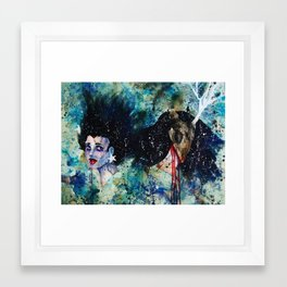 Locked in the Basement: Nightshade Framed Art Print