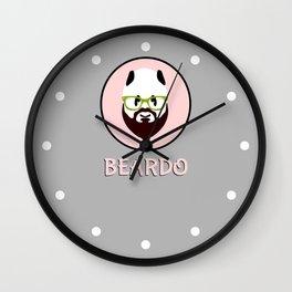Beardo Panda with a Beard Wall Clock