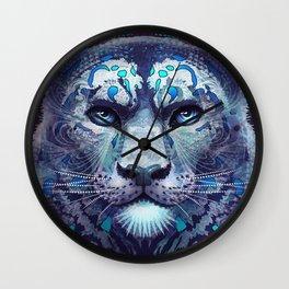 Snow Leopard Late Night Wall Clock