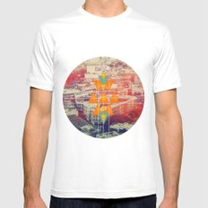 try angles White Mens Fitted Tee MEDIUM