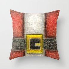 Santa Front & Belt Throw Pillow