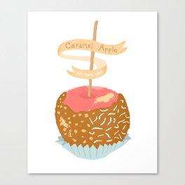 Caramel Apple om nom nom Canvas Print