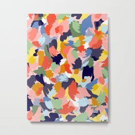 Bright Paint Blobs Metal Print