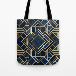 Art Deco Fancy Blue Tote Bag