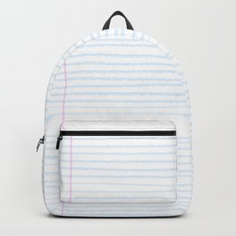 Fun Geeky Writers Gift: College Ruled Rules Pattern Backpack