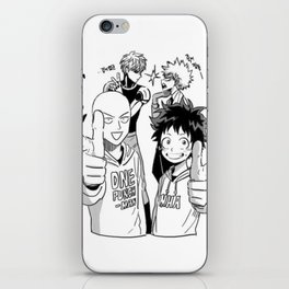 One Punch Man Vs Boku no Hero Academia iPhone Skin
