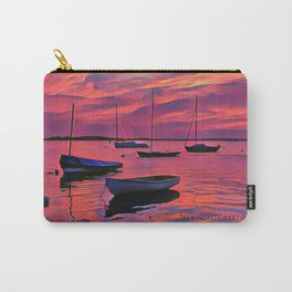 Sunset on the Mooring Field Boats Carry-All Pouch