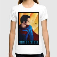 man of steel T-shirts featuring Man of Steel by sevillaseas