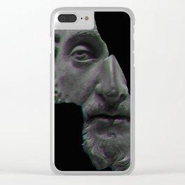Marcus Aurelius Broken Statue Clear iPhone Case