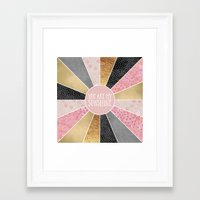 you are my sunshine Framed Art Prints featuring You are my sunshine by Elisabeth Fredriksson