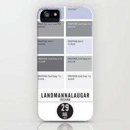 PANTONE glossary - Iceland - Landmannalaugar-Hrafntinnusker iPhone Case