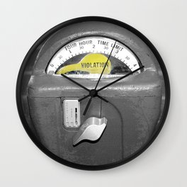 Parking Meter photography art Wall Clock
