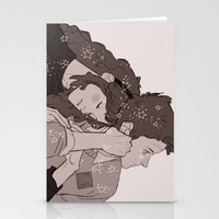 twins Stationery Cards featuring twins by JohannaTheMad
