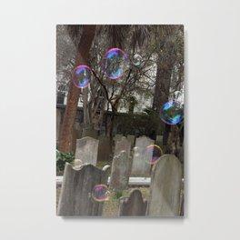 Graveyard Bubbles Metal Print
