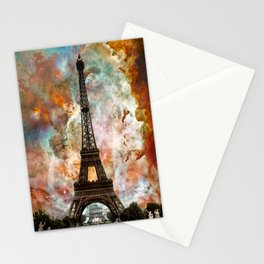 The Eiffel Tower - Paris France Art By Sharon Cummings Stationery Cards