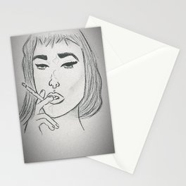 Cigarette girl Stationery Cards