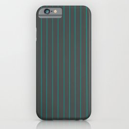 Gray with Turquoise Pinstripes iPhone Case