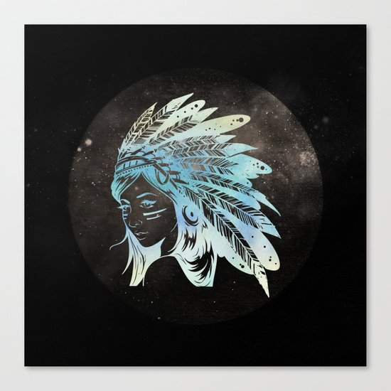 Moon Child Goddess Bohemian Girl Canvas Print