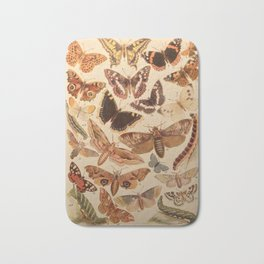 Vintage insects 1 Bath Mat