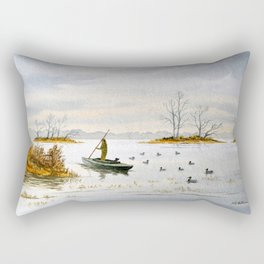Duck Hunting - The Island Duck Blind Rectangular Pillow