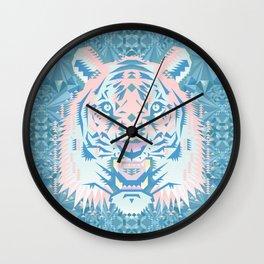 Pastel Quartz Tiger Wall Clock