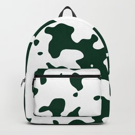 Large Spots - White and Deep Green Backpack