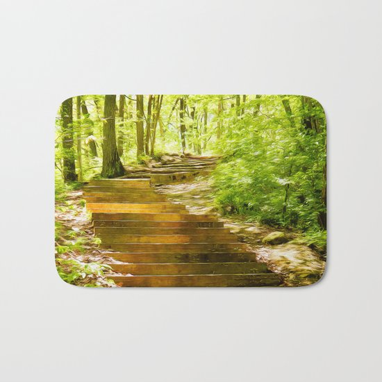 Steps Through The Forest Bath Mat