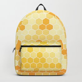 Honeycomb Yellow and Orange Geometric Pattern for Home Decor Backpack