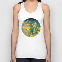 aperture Tank Tops featuring Orange Cosmos by Laura Ruth