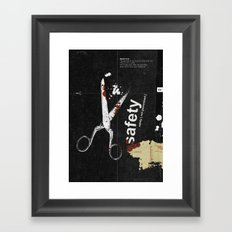 Safety [ not guaranteed ] | Collage Framed Art Print