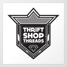 Thrift Shop Threads Shield Art Print