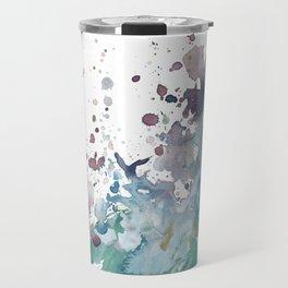 Shining Bright - Abstract Mixed Media Painting Travel Mug