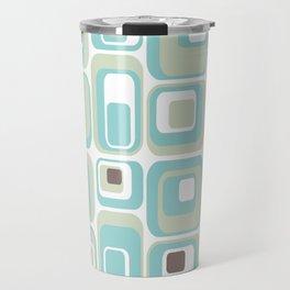 Retro Rectangles Mid Century Modern Geometric Vintage Style Travel Mug