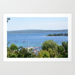Harbr Springs Bay -View from Bluff (3) Art Print