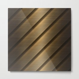 Copper Brass Metal Pipe Metal Print