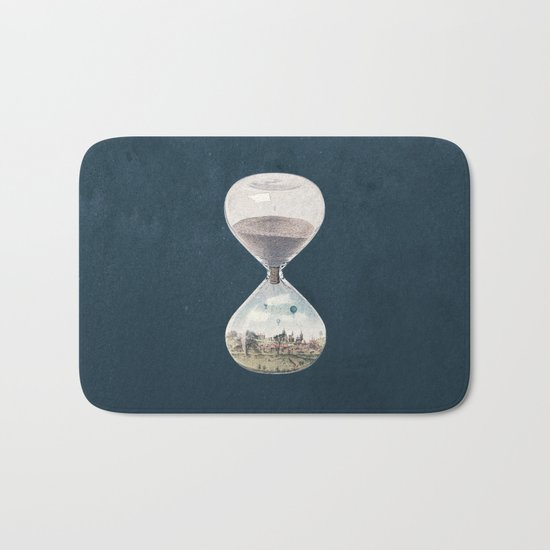 There's A City Where Time Stopped Long Ago Bath Mat