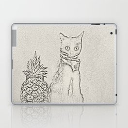 The Cat and the Pineapple Laptop & iPad Skin