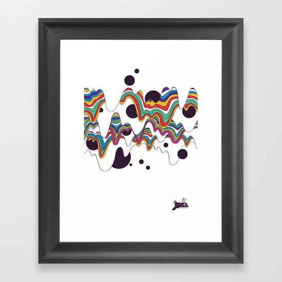 Psychedelic Planet Framed Art Print