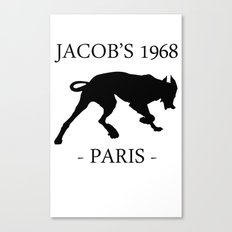 Black Dog II Contour White Jacob's 1968 fashion Paris Canvas Print