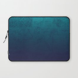 Blue Ombre Map Laptop Sleeve