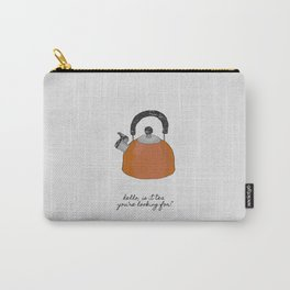 Hello, Is It Tea, Kitchen Quotes Carry-All Pouch