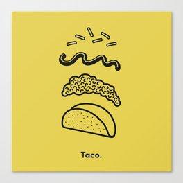 Taco Puzzle  Canvas Print
