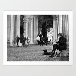 #ParisPostcards || The lightest sound Art Print