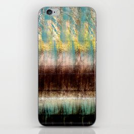 Turquoise, Brown, and Yellow iPhone Skin