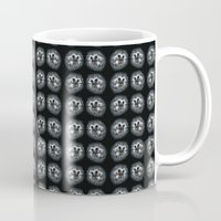 hedgehog Mugs featuring hedgehog by Kristina Gufo
