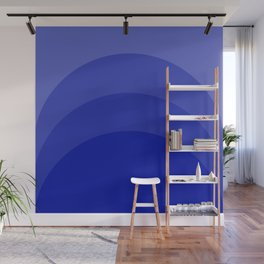Four Shades of Blue Curved Wall Mural