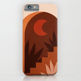 Abstraction_MOON_HOME_Minimalism_001 iPhone Case