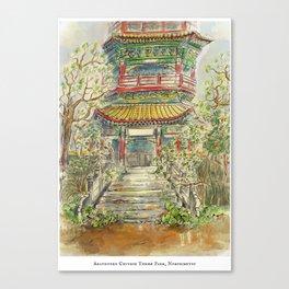Abandoned Pagoda Canvas Print