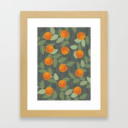 Orange Bliss #illustration#botanical Framed Art Print