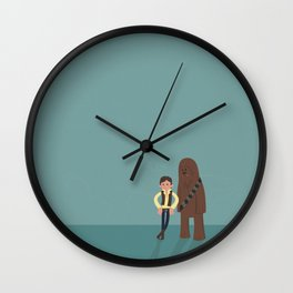 Han & Chewie, The Rogues Wall Clock